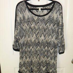 Dana Buchman multi-colored knit top
